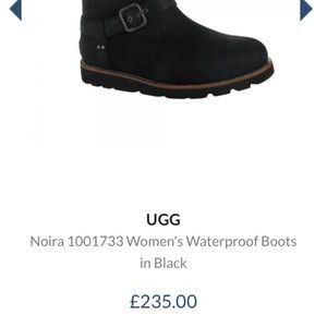 d473ec64dc0 Ugg Noira Black leather and sheepskin